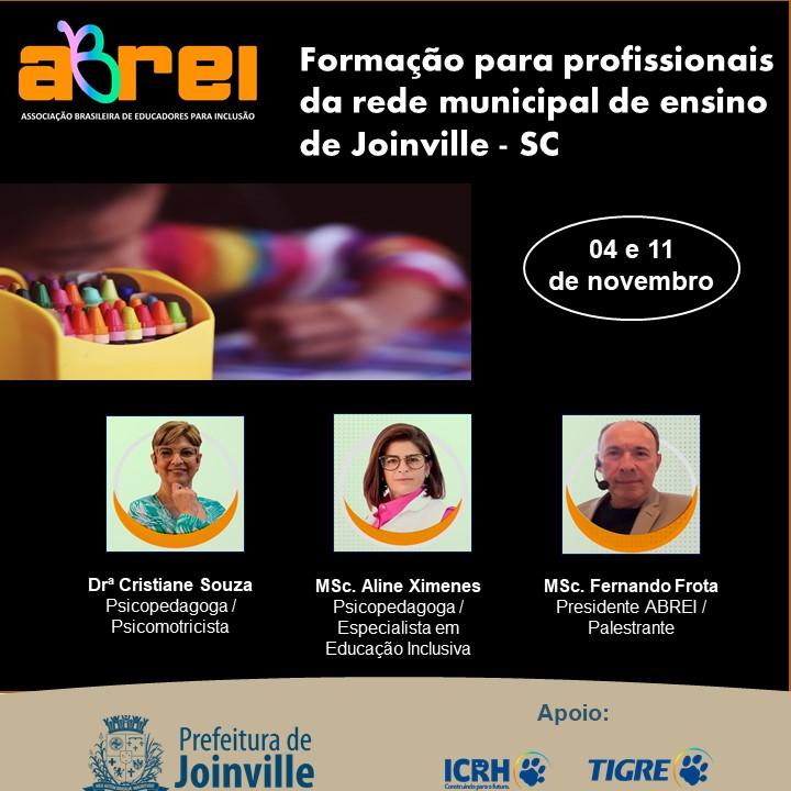 Formação para Profissionais da Rede Municipal de Ensino de Joinville – SC
